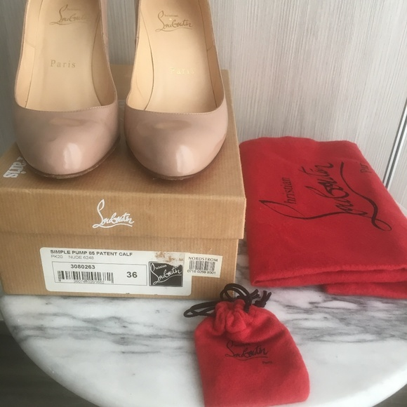 d18ecf62395 *UPDATED* Louboutin Simple Pump 85 Patent Nude